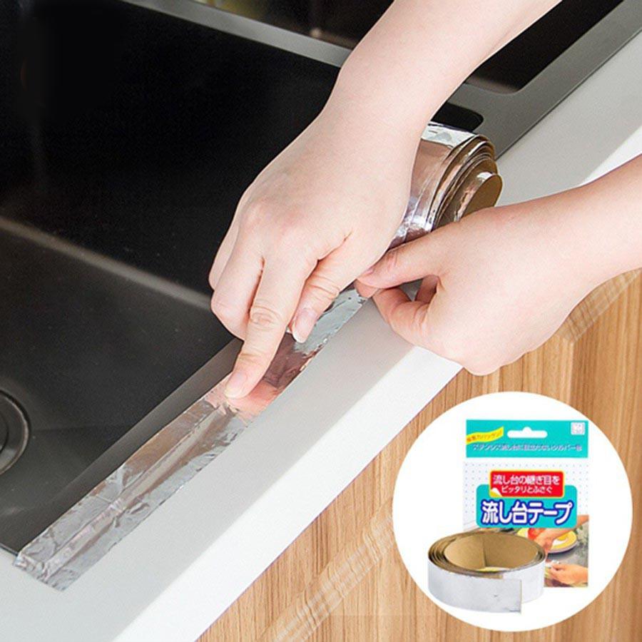 Băng dính nhôm dán kẽ hở ở bếp, bồn rửa bát, bề mặt kim loại - nội địa Nhật bản
