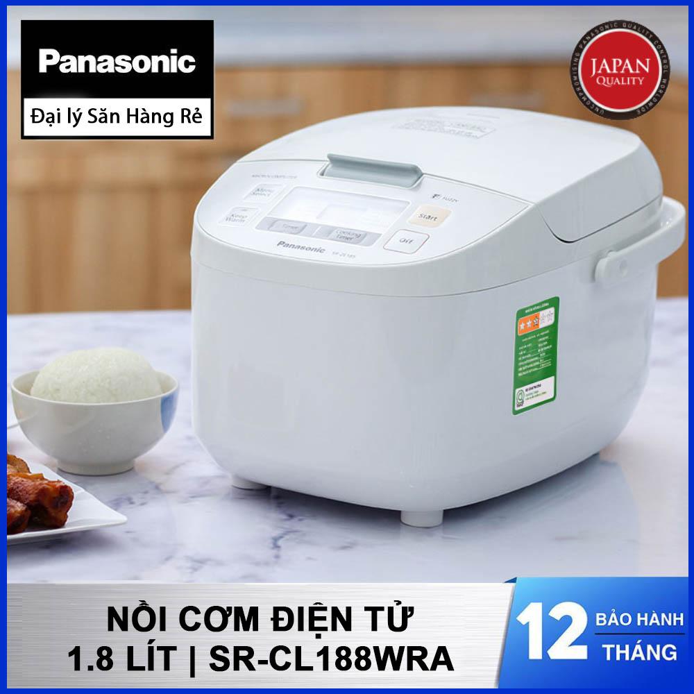 Nồi cơm điện tử Panasonic SR-CL188WRA 1.8 lít - Hàng chính hãng