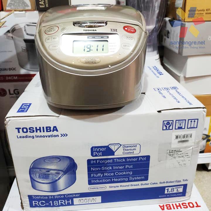 Nồi cơm điện cao tần 1 lít Toshiba RC-10RHCGVN sản xuất tại Thái Lan, hàng chính hãng bảo hành 12 tháng