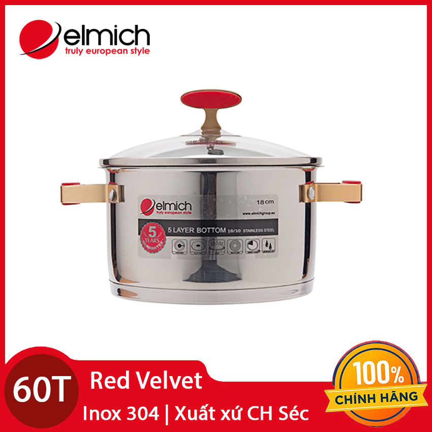 Nồi Inox 304 Red Velvet Elmich 22cm 2355269