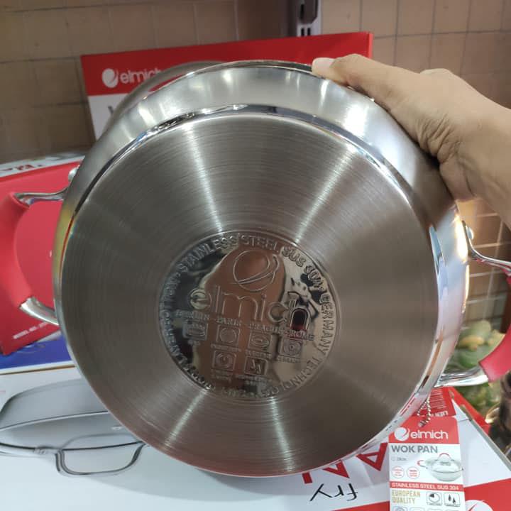 Nồi Lẩu Elmich Inox 304 Đáy Từ 28cm EL-5789 nhập khẩu chính hãng, bảo hành 12 tháng