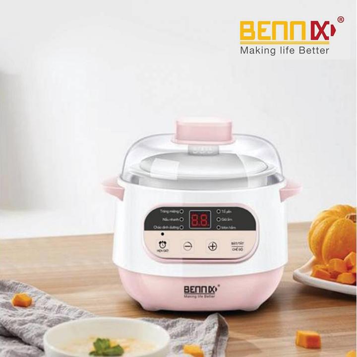 Nồi chưng yến Bennix BN-100A dung tích 1 lít hàng chính hãng, bảo hành 12 tháng
