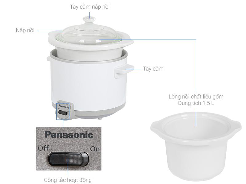 Nồi nấu chậm Panasonic 1.5 lít NF-N15SRA