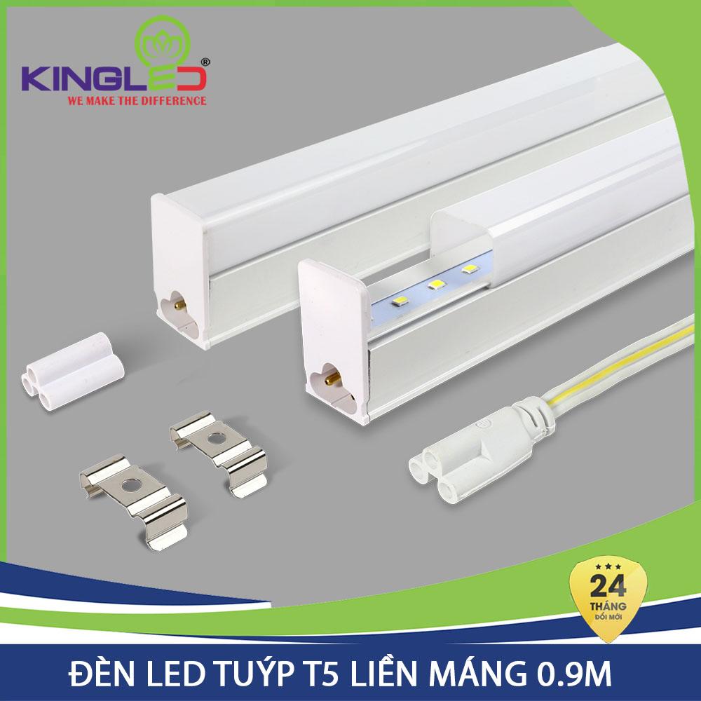 Đèn hắt trần Kingled Led tuýp T5 12W liền máng 0.9m (T5-12-90) hàng chính hãng, bảo hành 24 tháng