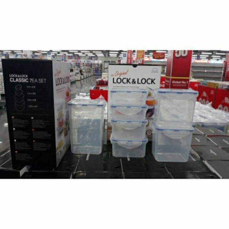 Bộ 7 hộp nhựa bảo quản LOCK&LOCK Classic HPT809BS