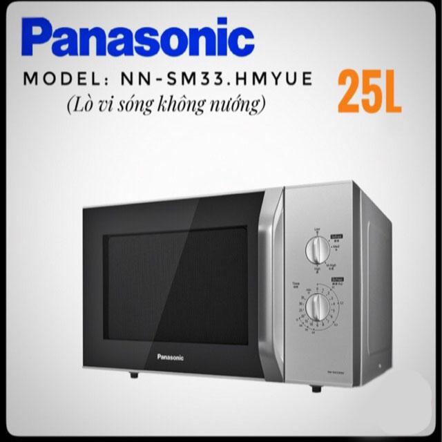 Lò vi sóng Panasonic NN-SM33HMYUE dung tích 25 lít chính hãng, bảo hành 12 tháng