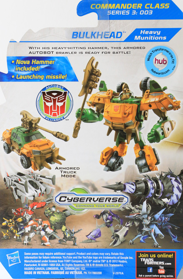Đồ Chơi Transformer Prime biến hình Beast Hunters Commander - Bulkhead Heavy Munitions (Box)