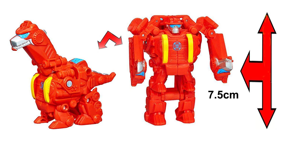 Robot Transformers Playskool Heroes Rescue Bots Heatwave the Rescue Dinobot (Box)