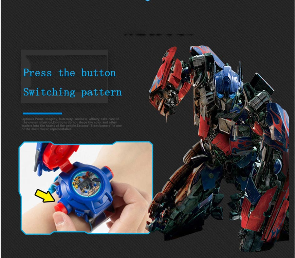 Đồng hồ điện tử chiếu 24 hình 3D Projector Watch Transformers Optimus Prime