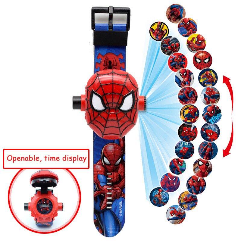 Đồng hồ điện tử chiếu 24 hình 3D Projector Watch Người nhện Spider Man